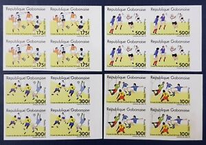 GABON 1990 IMPERF ND - SOCCER WORLD CUP COUPE MONDE FOOTBALL ITALY - RARE MNH