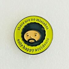 Bob Ross Happy Accidents Metal Enamel Pin Badge