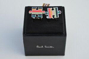 PAUL SMITH Artist Stripe jigsaw puzzle cufflinks striped cuff links