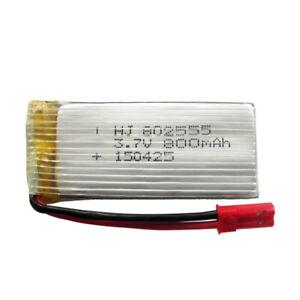 NEW 5Pcs 3.7V LiPo Rechargeable Battery 800mAh  For Camera DVR DVD GPS Recorder