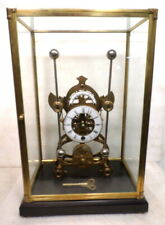 Antique Style Brass Harrison Grasshopper Clock With Brass/Glass Dome--Fantastic