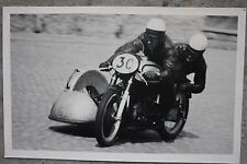 14127 photo Fritz Bagge Kurt schönherr sur nortron moto 1953 real photo carambolage