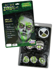 Toxic Zombie Mask & Wounds & Makeup Halloween Undead Adult Costume Kit