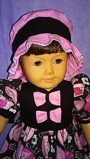 """Handmade Doll Clothes Cats on the run Dress for 18"""" American Girl doll"""