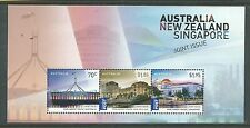 2015 Aust, NZ & Singapore Mini Sheet  Complete MUH/MNH as Issued Missed by Many