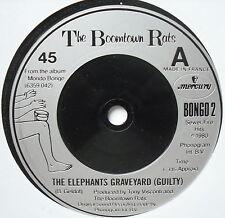 """BOOMTOWN RATS-Elephant 's Graveyard-Excellente avec 7"""" seule Mercure Bongo 2"""