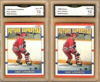 1990-91 Score USA & Canadian #440 Eric Lindros RC | LOT x2 | Graded GEM MINT 10