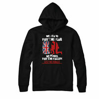 Lest We forget British Flag Remembrance Day Veteran Hoodie Top