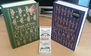 Cassandra Clare - Chain of Gold / Iron SIGNED Waterstones Shadowhunters w. Cards