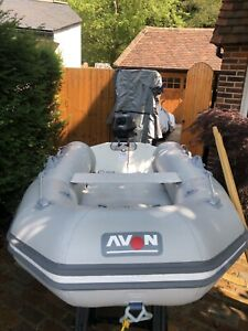 2.8m inflatable Avon Air Deck Tender With 2.5hp Yamaha 4stroke Outboard.
