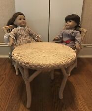 American Girl Dolls Felicity And Samantha Set With Table and Chairs
