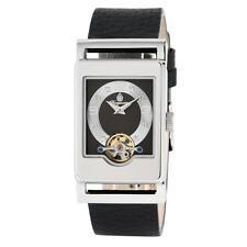 Rechteckige Armbanduhren mit Armband aus echtem Leder für Erwachsene