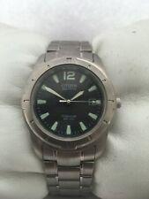 Citizen Men's Eco Drive Titanium Date 100 MT  Grey Dial Watch E111-K003601