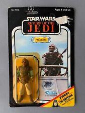 Vintage Star Wars Weequay 1983 65 Back Carded Return of the Jedi Jaba's Barge