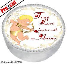 "PRE-CUT TRUE LOVE CAKE V I. TOPPER 7"" / 18CM EDIBLE WAFER PAPER PARTY DECORATION"