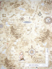 Row By Row Timeless Treasures Fabric Map Cotton Fabric C5060 Beige By The Yard