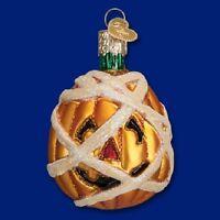 """Mummy Pumpkin"" (26074)X Old World Christmas Glass Ornament w/OWC Box"