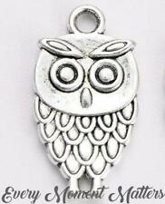 10 x Tibetan Silver OWL CHARMS HARRY POTTER BIRD 3D Charm Pendant Bead