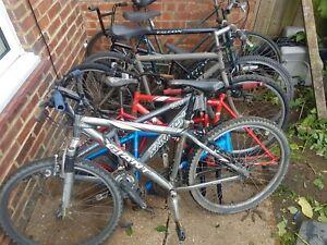 job lot of bikes spares or repair Giant Carerra Saracen ect
