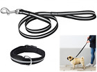 """Reflective Leash 48  """"- 123 cm and Padded Collar for Medium and Large Size Dogs"""