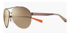 Nike Sunglasses Vintage 84 Satin Brown/Bronze Flash Lens EV0636 203 *BRAND NEW*
