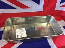 "NEW British Army Large Heavy Duty Deep Steel 20x10x4"" Roasting dish tray SIZE 4"