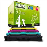 4x MWT Eco Cartucho Compatible Con Brother MFC-9340-CDW MFC-9140-CDN HL-3150-CDN