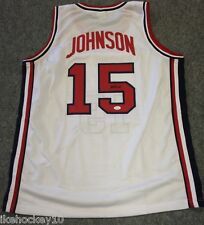MAGIC JOHNSON AUTOGRAPHED SIGNED USA JERSEY JSA
