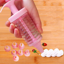 Cake Decorating Tools Cake Icing Piping Syringe Tips 8 Nozzles Tool 、RDR