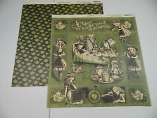 Graphic 45 12x12 Alice in Wonderland Collection Alices Tea Party 50 Double Sided