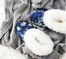NEW Free People Ariana Bohling Winter Cabin Alpaca Lined Slippers S 5/6 $115