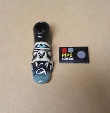 Ceramic Tobacco Pipe with Bowl Colorful Smoking, No Glass