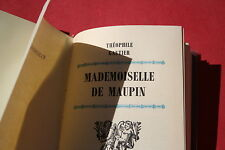 MADEMOISELLE DE MAUPIN par THEOPHILE GAUTIER   éd. FAMOT GENEVE 1974