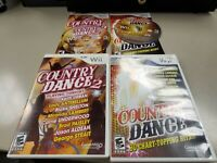 Country Dance 1 & 2 Nintendo Wii Game Set COMPLETE CIB! 1 AND 2!