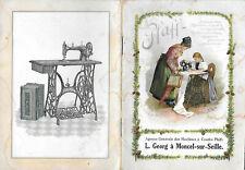 Catalogue PFAFF - Machine à Coudre - MONTCEL-sur-SEILLE (54) - Années 1900 -