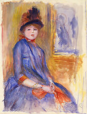 Auguste Renoir Reproductions: Young Girl in a Blue Dress - Fine Art Print
