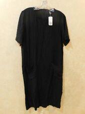 NEW Forever 21 Short Sleeve Below Knee Length Dress - Black - Size M _____R16C2