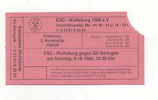 Orig.Ticket   2.Bundesliga  88/89  09.10.1988  ESC WOLFSBURG - SC SOLINGEN  !!
