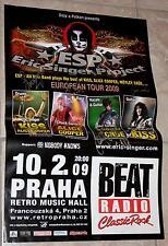 Signiertes ESP (KISS) Prag Konzert Autogramm Poster Eric Singer, Kulick, Corabi