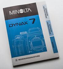 Bedienungsanleitung Minolta Dynax 7