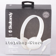 Skullcandy Headphone S2LHY K568 Stim On Ear With Mic Control White Gray NEW