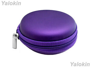 Purple Leather Hard Carrying Case for Coins Currency Keys Remotes Lighters