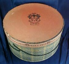 Vintage Peck & Peck Hat Box Fifth Ave. New York Round Rope Handle