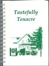 1995 Fund Rasing Cookbook Tastefully Tenacre Cookbook First Edition Illustrated
