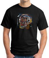 Black T-Shirt Jean Michel BASQUIAT Skull abstract art