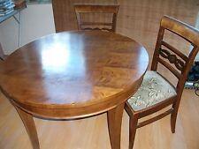 """Kirschbaum Tisch/Ablagebrett m. 2 Stühlen """"Rauchertisch"""" runder Tisch"""