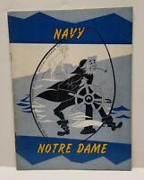 1959 Notre Dame Irish vs Navy Midshipmen Naval Academy Football  Stadium Program
