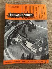 Miba Miniaturbahnen 1982 Heft 7 Brawa Schwarzwaldbahn Märklin Kibri Lokschuppen