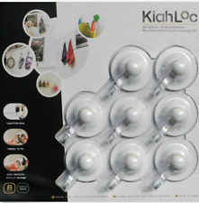 GENUINE Kiahloc Suction Hooks 8 Pack. Free Superfast Dispatch & Shipping!!