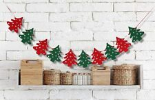 MERRY CHRISTMAS 10 XMAS TREE BANNER GARLAND HANGING BUNTING DECORATIONS DIY